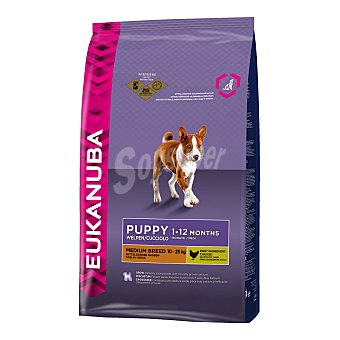 Eukanuba Pienso para perros medianos cachorros Eukanuba Medium Puppy Pollo 3 Kg