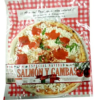 CASA MODENA pizza fresca de salmón y gambas envase 360 g