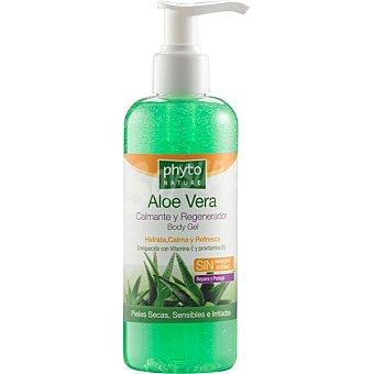 Luxana Phyto Nature Gel de baño Aloe Vera calmante y regenerador enriquecido con vitamina E y provitamina B5 dosificador 250 ml para pieles secas sensibles e irritadas dosificador 250 ml