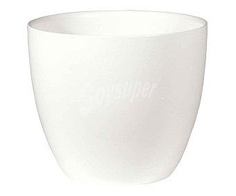 Fansa Maceta cerámica lisa, de color blanco y medidas de 18 x 15.5 centímetros 1 unidad