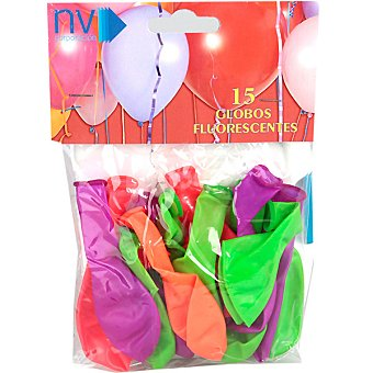 NV CORPORACION Globos fluorescentes Bolsa 15 unidades