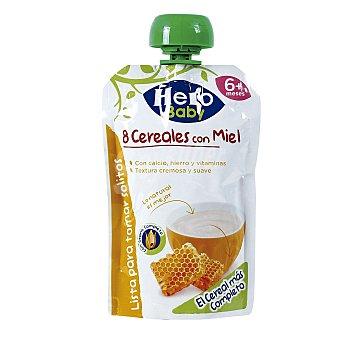 Hero Baby Papilla 8 cereales con miel lista para tomar solitos formato bolsita pouche Envase 100 g