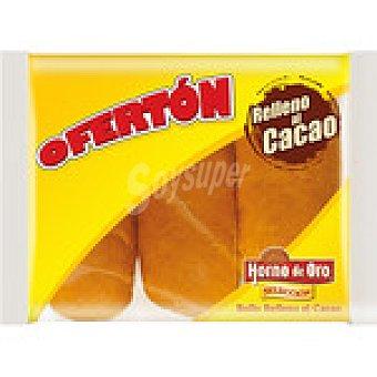 Horno de Oro Bollos rellenos de cacao bolsa 135 g 3 unidades