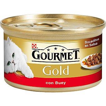 GOURMET GOLD Para gato delicias de buey en salsa lata 85 g Lata 85 g
