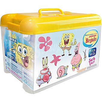 Font Vella Agua mineral natural 2 packs 6 botellas 33 cl con regalo de tupper Bob Esponja Packs 6 botellas 33 cl