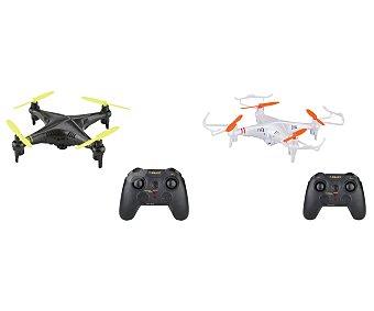 SKY QUEST Dron de 22 centímetros con cámara, 2,4Ghz 4 canales, botón de looping 360º y de retorno automático, tarjeta SD de 4Gb incluida 1 unidad