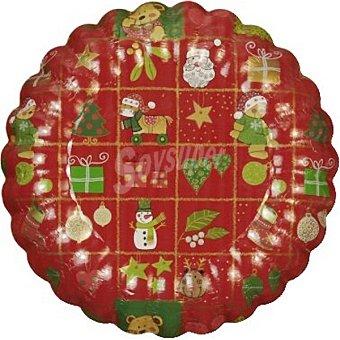 Papstar plato redondo decorado Navidad 25 cm  paquete 2 unidades