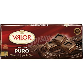 Valor Chocolate puro tableta 200 gr Tableta 200 gr