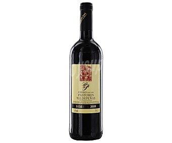 CERRO de los PASTORES Vino tinto tempranillo reserva con denomiación de origen Valdepeñas Botella de 75 centilitros