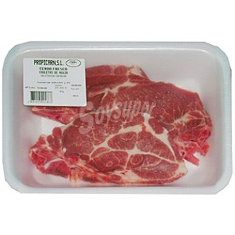 PROPICARN Chuletas de aguja fresca de cerdo peso aproximado Bandeja 500 g