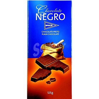 Hipercor chocolate negro tableta 125 g