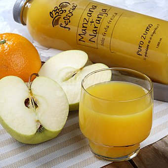 BE FRESH Zumo de naranja y manzana natural 1 LT