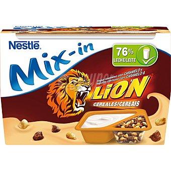 Nestlé Yogur natural cremoso con caramelo y cereales 2 unidades de 115 g