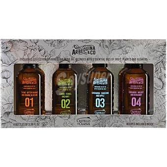 Castillo de canena Aceite de oliva virgen extra de Úbeda Jaén diferentes variedades 4x100 ml estuche 400 ml 4x100 ml