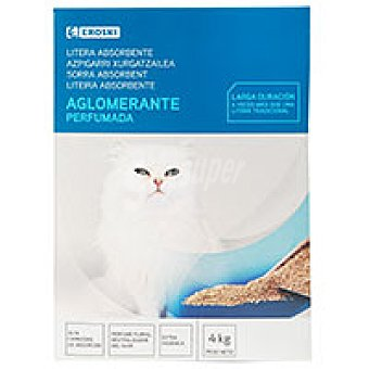 Eroski Litera aglomerante absorbente perfumada Caja 4 kg