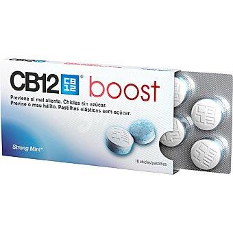 CB12 Boost chicles sin azucar para prevenir el mal aliento sabor menta fuerte caja 10 unidades Caja 10 unidades