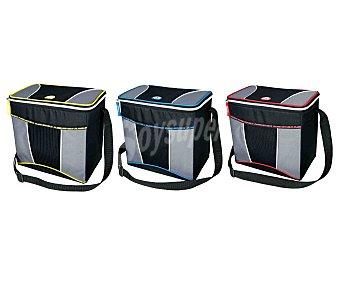 IGLOO Bolsa nevera semirigido con capacidad de 12 litros, bandolera y cierre de cremallera y diseño gris con toques de color 1 unidad