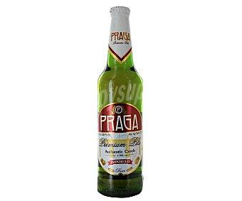 Praga Cerveza checa rubia de importación Botella de 60 centilitros