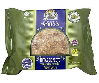 San Martín de Porres Torta en aceite de oliva 6 uds x 180 g