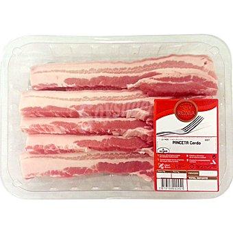 AVINYO Panceta de cerdo fresca en filetes bandeja familiar peso aproximado 1 kg 1 kg