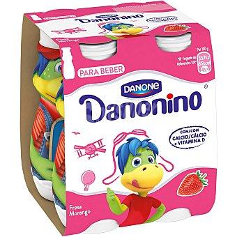 Danonino Danone Petit líquido, con sabor a fresa 4 x 100 g