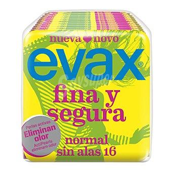 Evax Compresas Normal Sin Alas Fina y Segura 16 ud