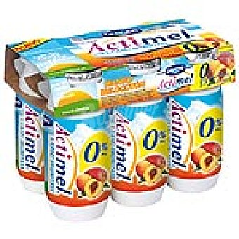 Actimel Danone Yogur liquido actimel desnatado mango-melocoton Botellin pack 6 x 100 g - 600 g
