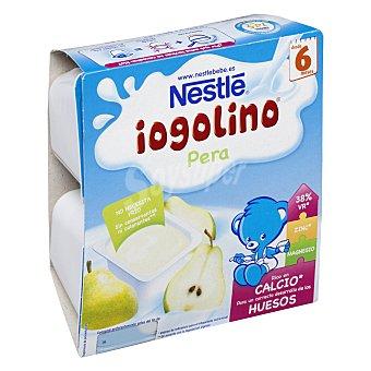 Nestlé Postre de pera logolino 4 unidades de 100 g