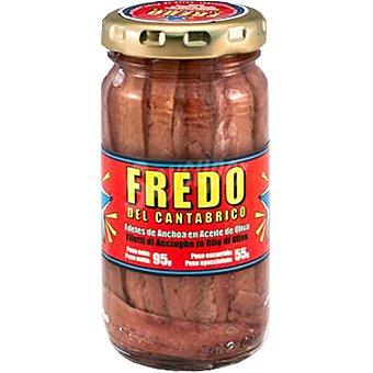 FREDO DEL CANTABRICO Filetes de anchoa en aceite de oliva Frasco 55 g neto escurrido
