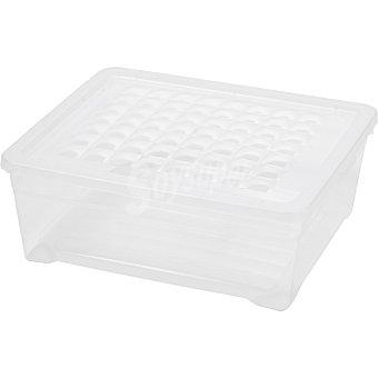 Unit Textil Line caja de plastico transparente con tapa de 10 l 10 l