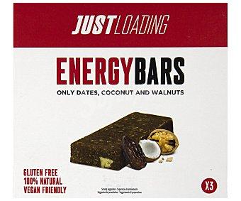Just Loading Baritas energética con coco y nueces 3 x 40 g