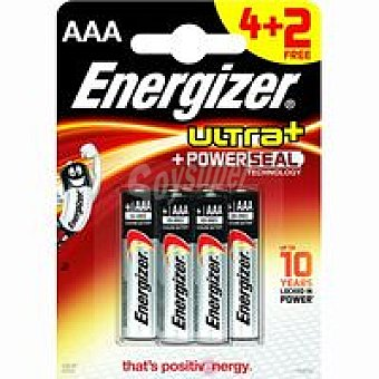 LR03 AAA ENERGIZER Pila Maxpowerseal E92 Pack 4+2 unid