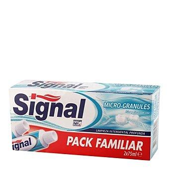 Signal Pasta de dientes microgránulos Pack 2x75 ml