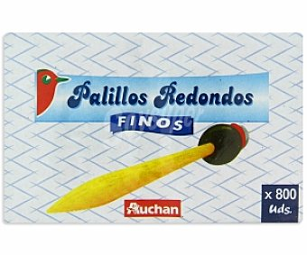 Auchan Palillos redondos finos, estuche Nº103 800 unidades