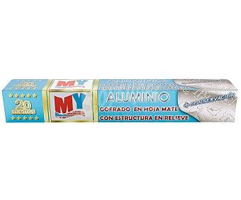 My Products Rollo de aluminio mate con relieve producs 20 M