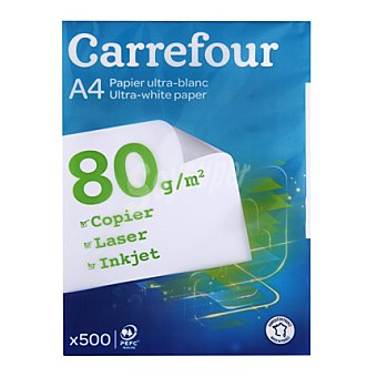 Carrefour Recambio Hojas A4 80gr 500 ud