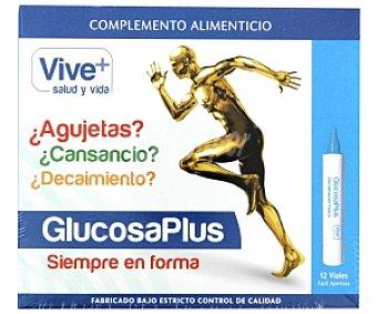 VIVE PLUS SALUD Y VIDA Complemento alimenticio para combatir el cansancio, 12 Dósis