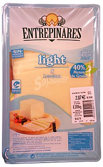 Entrepinares Queso barra lonchas light Paquete 220 g