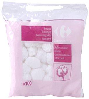 Carrefour Bolas de algodón desmaquilladoras Bolsa de 100 uds