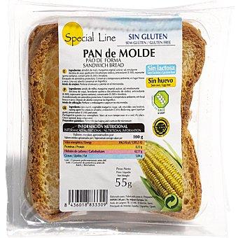 Special Line pan de molde sin gluten 2 rebanadas Envase 55 g