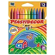 Pinturas de cera de diferentes colores plastidecor Caja 12 unidades Bic