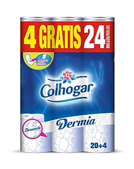 Colhogar Papel higiénico dermia 20+4 u