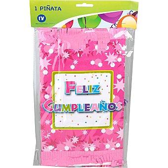 NV CORPORACION Piñata feliz cumpleaños color rosa 1 unidad 1 unidad