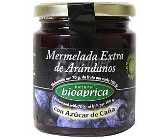 BIOAPRICA Mermelada natural biológica de arándanos extra con azúcar de caña 275 gramos