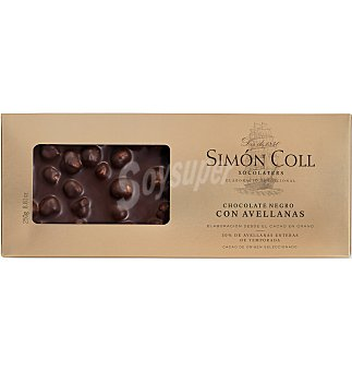 Simón Coll Turrón chocolate extrafino avellana 250 g