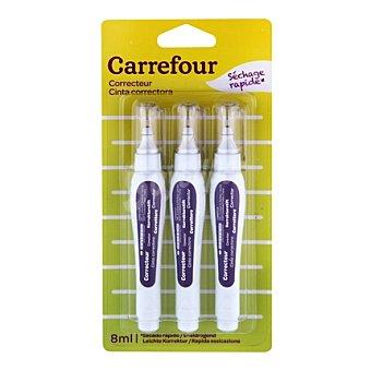 Carrefour Lápices Corrector 8 ml 3 ud