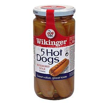 Wikinger Salchichas bockwurst hot dogs 5 unidades Frasco 250 g neto escurrido