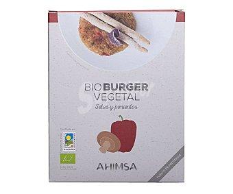 Ahimsa Burger Seitán, setas shitake y pimientos Biológicos 160 g