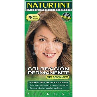 NATURTINT Tinte rubio dorado color permanente sin amoniaco caja 1 unidad 7g