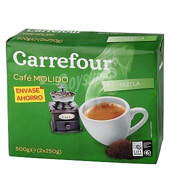 Carrefour Café molido mezcla 50% natural, 50% torrefacto Pack de 2x250 g